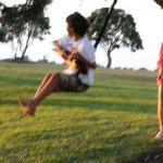 Swinging by the ocean