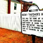 Becky Thatcher's House(sign)