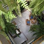 view from top floor to foyer