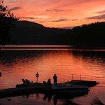 Water's Edge Long Lake NY Sunset