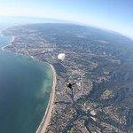 Skydiving over Santa Cruz