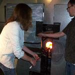 Conrad & I making my bowl!
