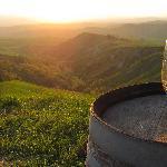 Amazing sunset & wine!