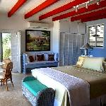 Beautifully appointed master bedrooms in every villa!