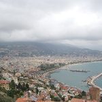 Alanya from 1/2 way up to the castle