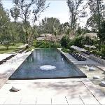 Big swimming pool with jacuzzi