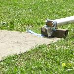 open sewer pipes