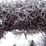 Antler archway in Jackson,WY