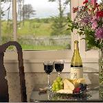 Enjoy wine at Dennen's Victorian Farmhouse