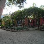 Just a part of the tree-shaded courtyard