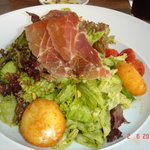 Salad with Goat Cheese and Parma Ham
