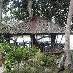 the nipa hut infront of our room