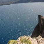 El lago desde el acantilado