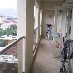 balcony of 2 bedroom deluxe apt!