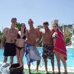 Wayne, Shauna, Greg, Michael, Aimee at the beautiful Tropicana pool