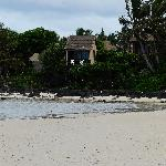 VIEW OF POLE HOUSE FROM MURI BEACH