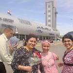 amina desouky helping Varma family in cairo airport