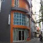 Exterior of Boutique Inn on quiet street