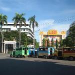 jeepneys across the city hall