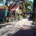 Resort's row of shops
