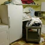 This is the kitchen/laundry room. Disgusting!