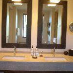 Huge bathroom, two sinks!