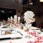 Table setting at Albertos