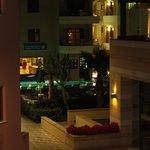 Hotellområdet kveldstid