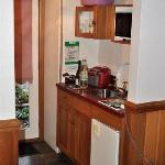 Small kitchenette area.