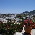 Apollonia vue de l'hôtel