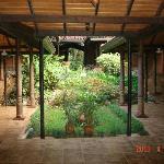 ツリ-オブザライフホテルの部屋の前の中庭です。