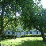 Back of the house through the orchard