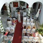 Aerial Shot of Rachel and John´s Wedding