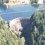 Arial view of Cushman Dam