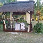 The hotel's gazebo where our wedding ceremony was held
