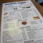 Wooden spoon menu