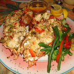 baked stuffed local lobster