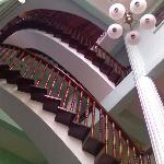Stairway up to 2nd & 3rd floors