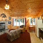 Gunflint Lakeside fireplace cabin