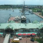 View from room of Inner Harbor