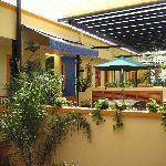 Upstairs patio area