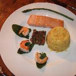 Yum ~ Keith's salmon main course