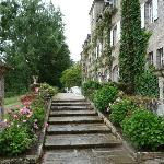 escalier entre parc et terrasse