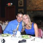 My husband and I at our rehearsal dinner