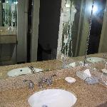 Sink outside bathroom