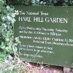 Hare Hill garden sign.