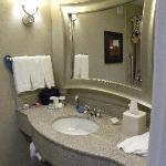Spacious bathroom with large vanity