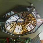 Check out this stained glass dome it's huge!