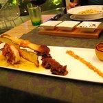 Tiger Prawns with Fried Zucchini