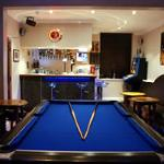 Come and have a game of pool in our modern  bar